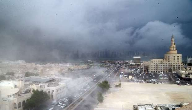 Gulftimes : Heavy rain, temperature drop bring relief to residents